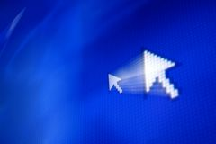 Cursor arrow. In move abstract background Royalty Free Stock Photography