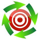Cursor arrow around target Stock Photos
