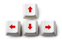 Cursor arrow keys on white Royalty Free Stock Photography