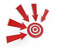 Cursor arrow on target Royalty Free Stock Photo