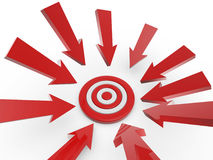 Cursor arrow on target Royalty Free Stock Images
