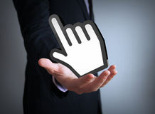 Cursor businessman Royalty Free Stock Photo
