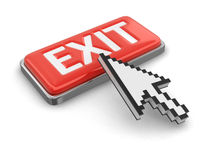 Cursor and button EXIT Royalty Free Stock Image
