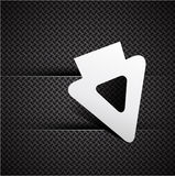 Cursor on carbon texture Royalty Free Stock Images