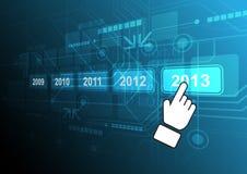 Cursor click 2013 button. Illustration design Royalty Free Stock Photos