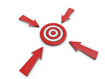 Cursor click on target Stock Photo