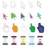Cursor coloreado #1 de los iconos Imágenes de archivo libres de regalías