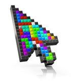 Cursor colorido del ordenador del ratón de la flecha Imágenes de archivo libres de regalías