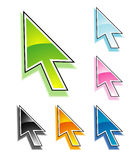 Cursor in colour Stock Photo