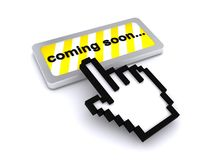 Cursor and coming soon button Stock Images