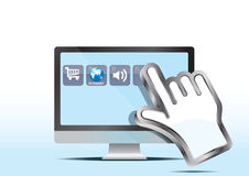 Cursor and computer Royalty Free Stock Image