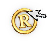Cursor and copyright symbol. Stock Photography