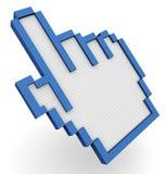 cursor da mão 3d Ilustração Stock
