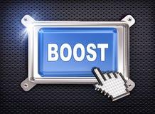 cursor da mão do botão 3d - impulso Foto de Stock Royalty Free