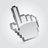 Cursor da mão Fotografia de Stock