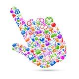 Cursor da mão da tecnologia Foto de Stock