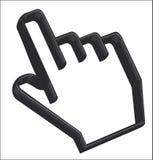 Cursor de la mano - 3D Imagen de archivo