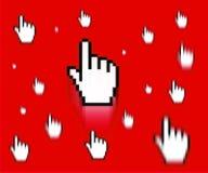 Cursor del dedo Fotografía de archivo libre de regalías