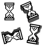 cursor del reloj del vector 3D Fotografía de archivo libre de regalías