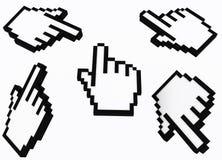 Cursor der Hand 3d Lizenzfreie Stockbilder