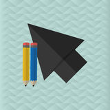 Cursor design. Colorfull illustration,  graphic Royalty Free Stock Photography