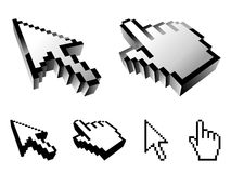 Cursor designs. Stock Photos