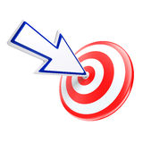 Cursor directed on target Royalty Free Stock Photo