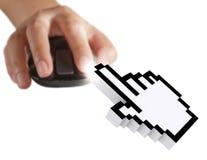 Cursor do computador imagens de stock