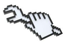 Cursor do pixel com a chave Fotos de Stock Royalty Free