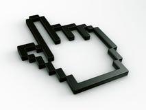 Cursor do rato da mão em 3d Imagem de Stock