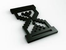 Cursor do rato do Hourglass em 3d Fotografia de Stock