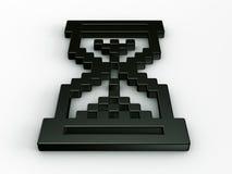 Cursor do rato do Hourglass em 3d Imagens de Stock Royalty Free
