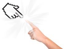 Cursor e mão do computador imagens de stock