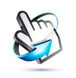 Cursor e mão do ponteiro Imagens de Stock