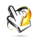 Cursor e seta da mão do Internet Imagens de Stock Royalty Free
