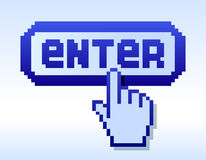 Cursor and enter Stock Photo