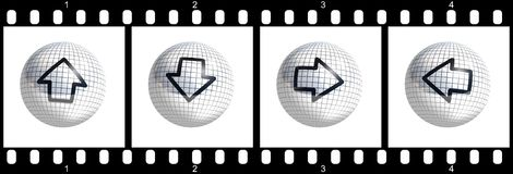 Cursor film strip. Ready to use for designers and publishers Stock Photo