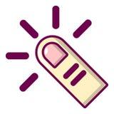 Cursor finger icon, cartoon style. Cursor finger icon. Cartoon illustration of cursor finger vector icon for web Stock Photos