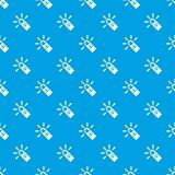 Cursor finger pattern vector seamless blue. Repeat for any use Stock Photos