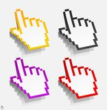 Cursor in the form of stickers Stock Photo