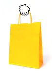 Cursor hand holding a shopping bag Royalty Free Stock Photography