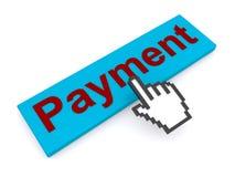 Cursor hand and payment button Stock Photos