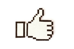 Cursor hand with thumb up Royalty Free Stock Photos
