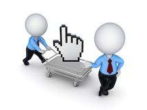 Cursor on a handcart. Stock Photo