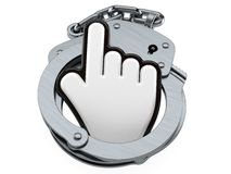 Cursor with handcuffs Stock Images
