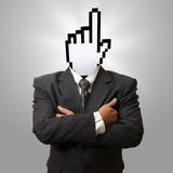 Cursor head. As internet concept Stock Photo