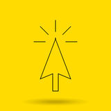 Cursor icon design Royalty Free Stock Photos
