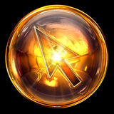 Cursor icon glass royalty free stock photo