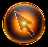 Cursor icon gold Royalty Free Stock Photos