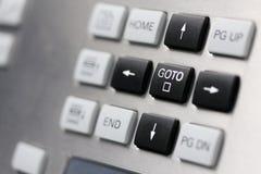 Cursor keys buttons. Close up of control panel keypad. Cursor keys buttons. Selective focus on GOTO key Royalty Free Stock Photos